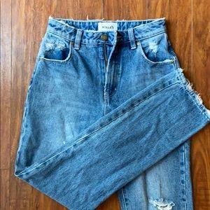 Rollas Original Cropped Straight Leg Jean